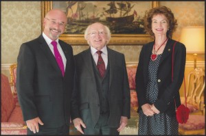 Colin Martina with President Michael D Higgins